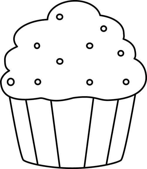 Dibujo Cupcake Para Colorear
