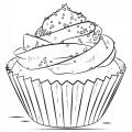 Dibujos Para Colorear Cupcakes