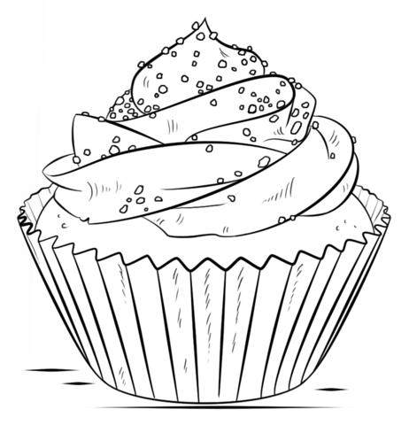 Dibujo De Cupcake Para Colorear