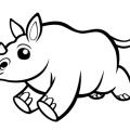 Imagenes Para Colorear De Rinocerontes