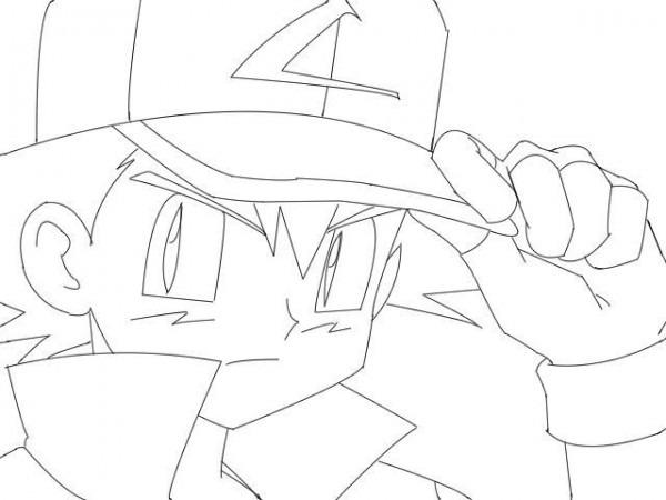 Mi Dibujo (en Pc Sin Color) De Ash