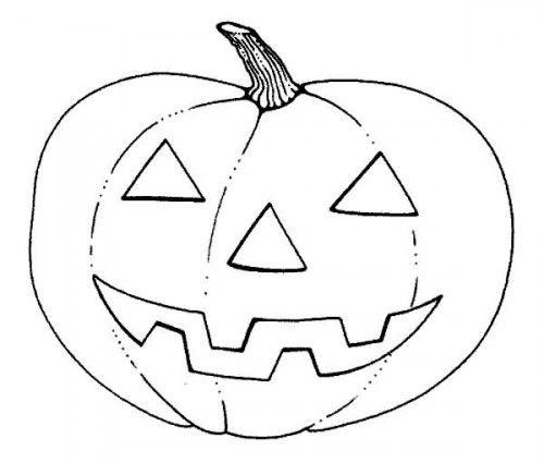 Dibujo Calabaza De Halloween