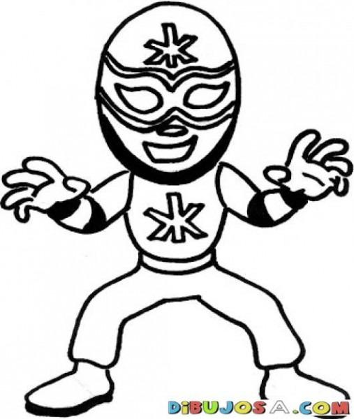 Dibujo De El Santo Para Pintar Y Colorear Al Mejor Luchador De La