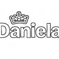 Nombre Daniela Para Colorear