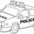 Carro De Policia Para Colorear
