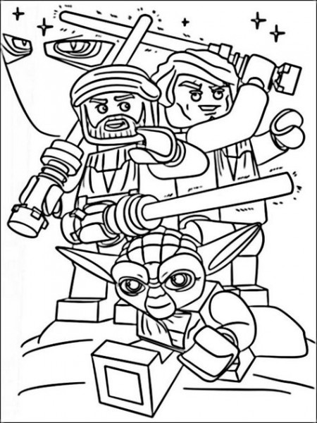 Lego Star Wars Coloring Pages 9