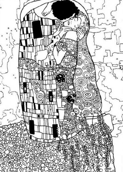 Cuadros De Gustav Klimt Para Colorear