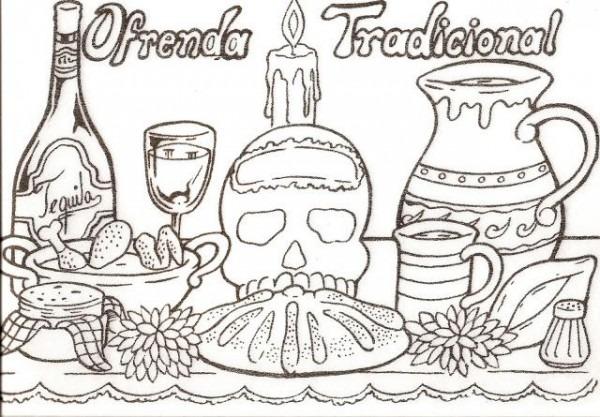 Colorear Ofrenda Tradicional
