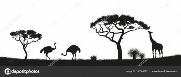Silueta De Africa Para Imprimir