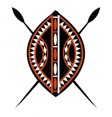 Escudos Africanos Para Colorear