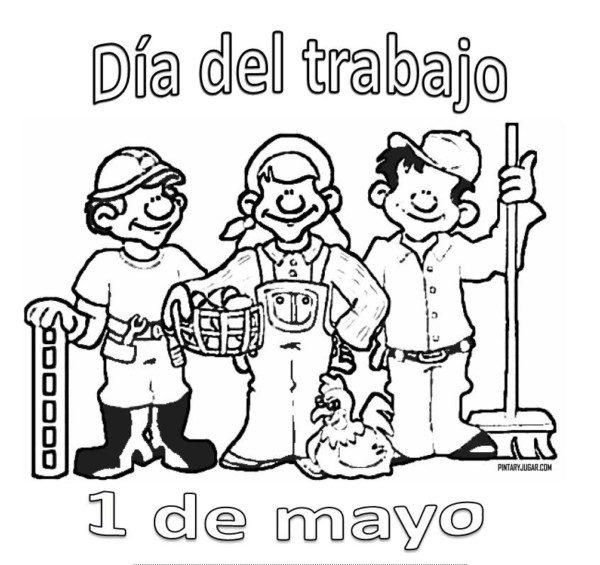 Dibujos Del Día Del Trabajador Para Colorear E Imprimir