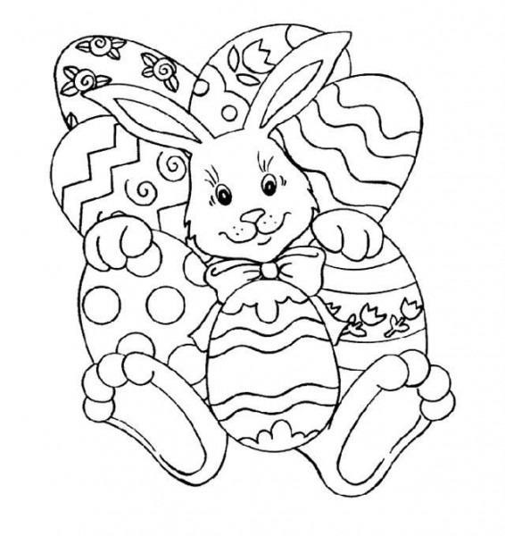 Conejitos De Pascua  Fotos Dibujos Para Colorear (foto)
