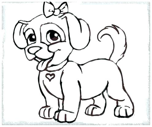 Dibujo De Mascotas Para Pintar