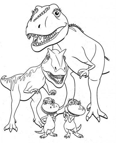 Feroces Y Muy Impresionantes Dibujos De Dinosaurios Para Colorear