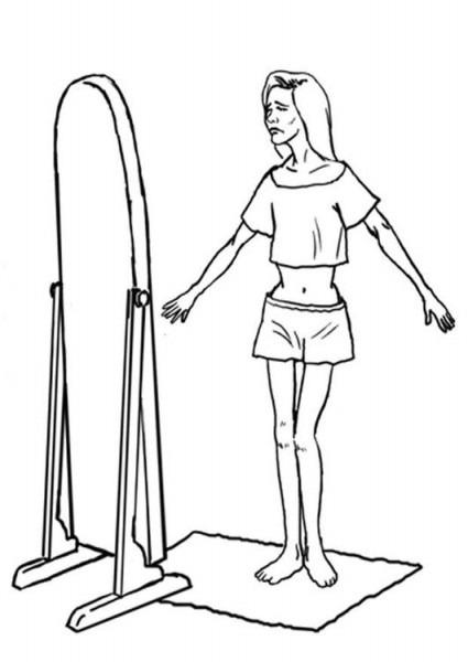 Dibujo Para Colorear Anorexia Nerviosa