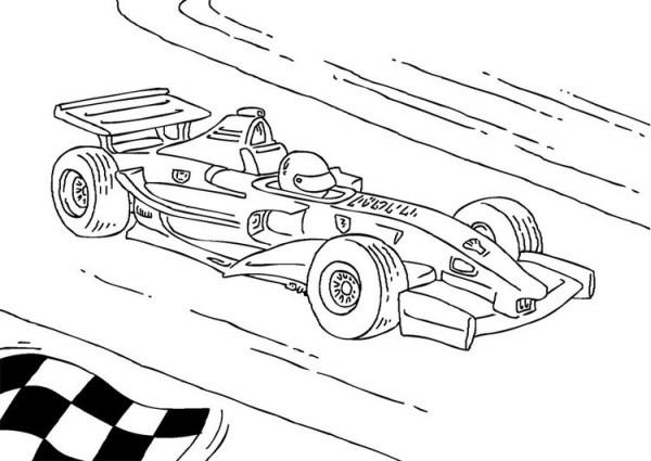 Dibujo Para Colorear Coche De Carreras De Fórmula 1