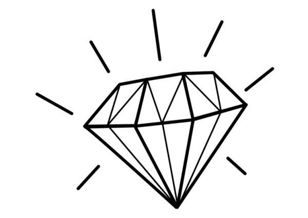 Dibujo Para Colorear Diamante