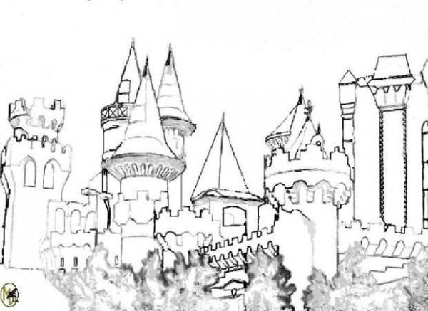 Dibujos Para Colorear Castillos