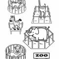 Dibujos Zoo Para Colorear