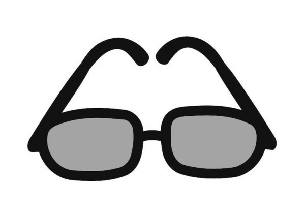 Un Dibujo De Gafas De Sol