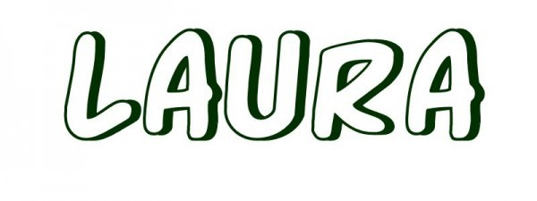 Dibujo Para Colorear Nombre Laura