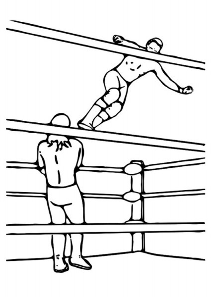 Dibujo Para Colorear Lucha