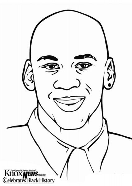 Dibujo Para Colorear Michael Jordan