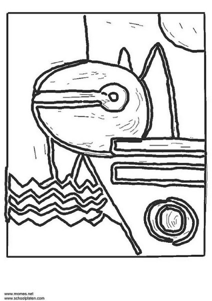 Dibujo Para Colorear Paul Klee