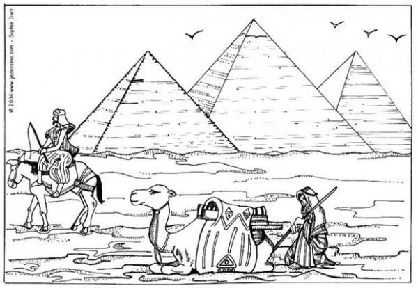 Dibujos Para Colorear Piramide En Egipto