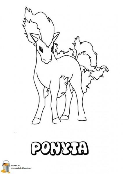 Ponyta Para Colorear