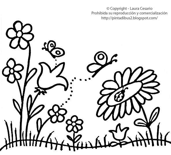 Dibujos Para Imprimir Y Colorear  Flores De Jardín Para Pintar O