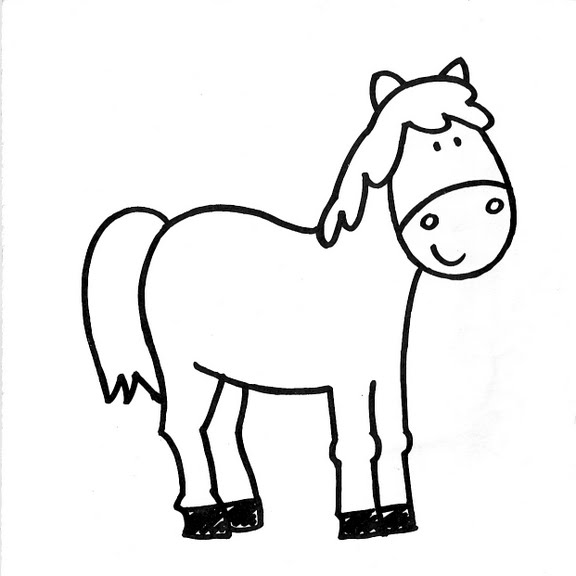 Dibujos Infantiles  Dibujo Infantil Caballo