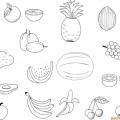 Frutas Y Verduras Para Colorear En Ingles