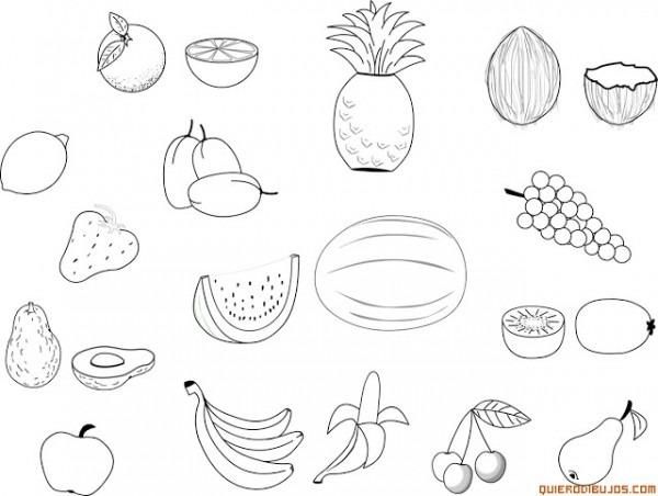 Imagenes De Frutas Y Verduras Para Colorear Para Niños