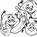 Frutas Animadas Para Colorear
