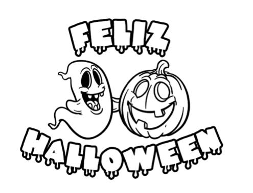 Dibujos De Halloween Para Colorear – Manualidades