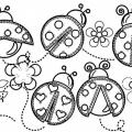 Dibujos Para Colorear Mariquitas Infantiles