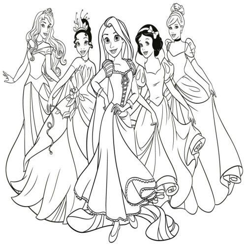 Dibujos De Las Princesas Disney Para Colorear E Imprimir