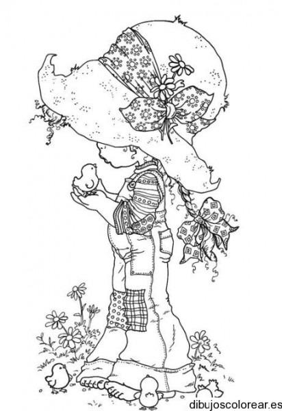 Dibujo De Una Niña Con Sombrero