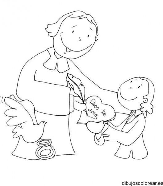 Dibujo Con Leyenda Dios Te Ama