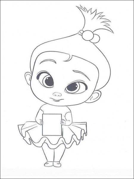 Dibujos Para Colorear  Fotos Dibujos Bebé Jefazo (foto)