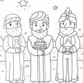 Para Colorear Reyes Magos