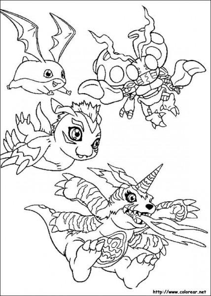 Dibujos Para Colorear De Digimon