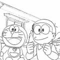 Dibujos De Doraemon Y Nobita Para Colorear