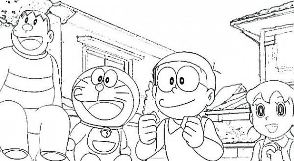Dibujos Para Colorear De Doraemon Y Nobita