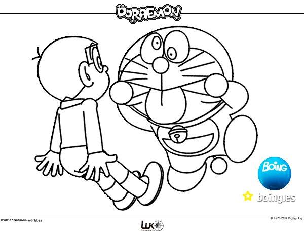 Dibujo De Doraemon Y Nobita Pintado Por Leerose1 En Dibujos Net El