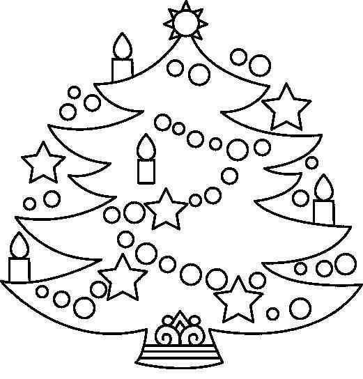 Arbol De Navidad  98 (objetos) – Páginas Para Colorear
