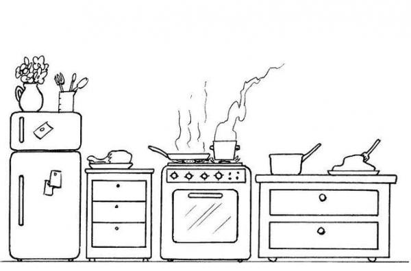 Cocina  34 (edificios Y Arquitectura) – Páginas Para Colorear