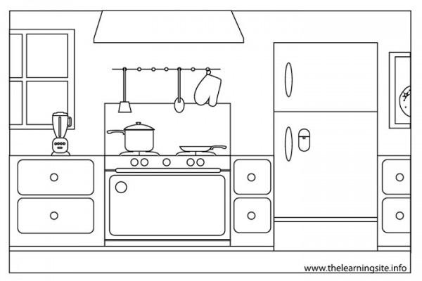Cocina  4 (edificios Y Arquitectura) – Páginas Para Colorear