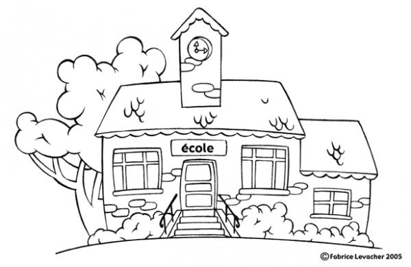 Escuela  8 (edificios Y Arquitectura) – Páginas Para Colorear